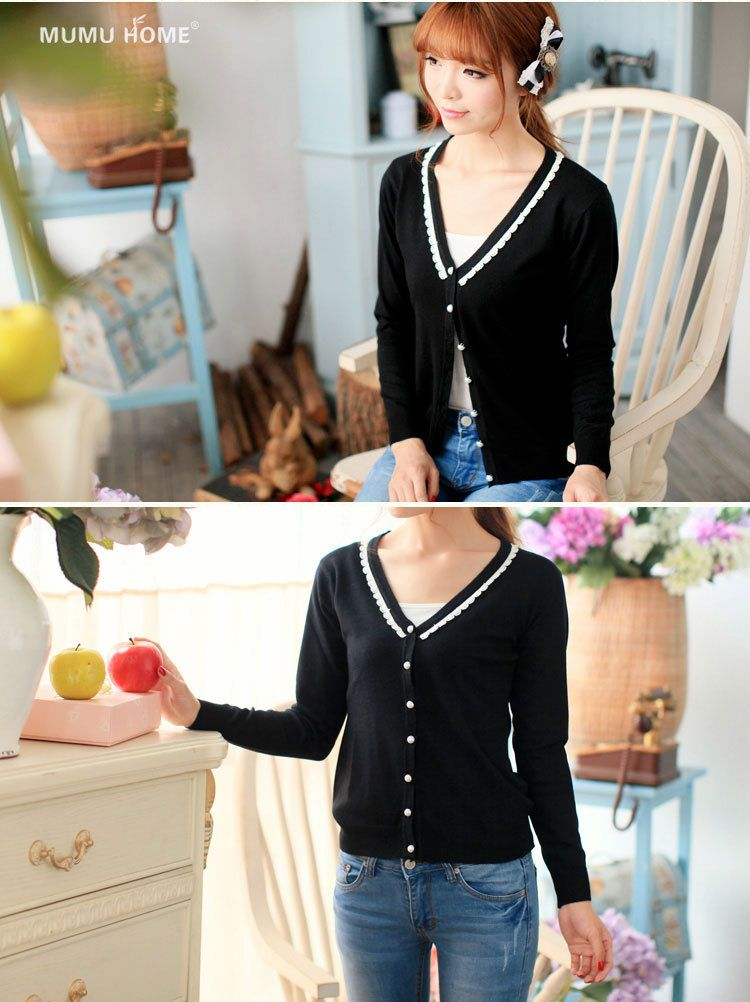Simple V-Neck Cardigan, $19.99, also available in pink and orange.