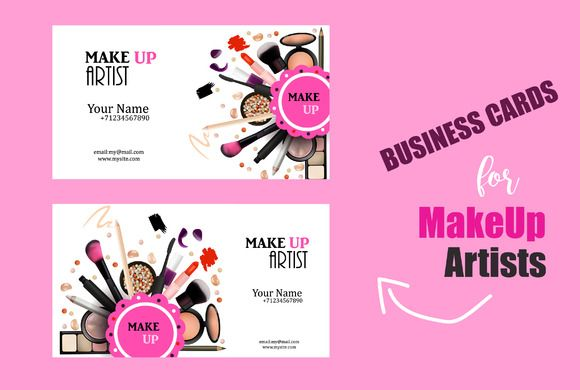 Makeup Artist Business Card By Sunny Red On Creativemarket Business Card Template Design Makeup Artist Business Cards Makeup Artist Business Cards Templates