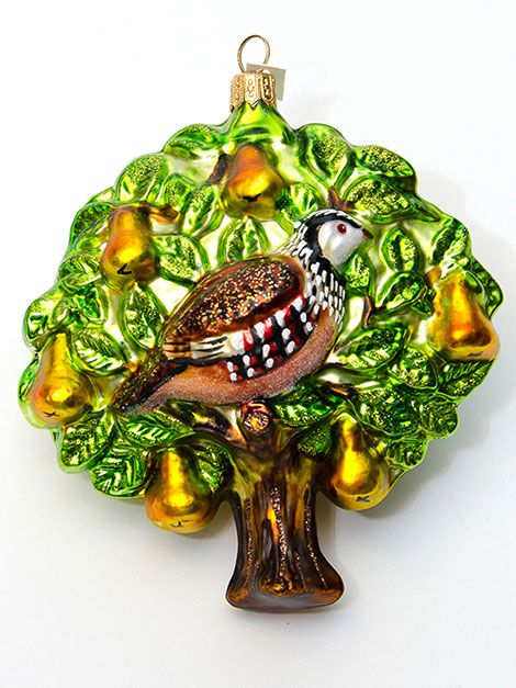 turtledove-pear-tree Pear Trees, Christmas Colors, Christmas Holidays,  Color Boards - A Partridge In A Pear Tree Ornament Christmas Crafts Pear Trees