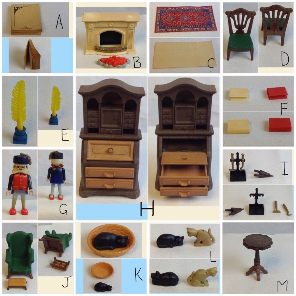 choose victorian furniture. PLAYMOBIL 5310 GRANDPAS DEN Victorian Mansion 5300 CHOOSE Choose Furniture