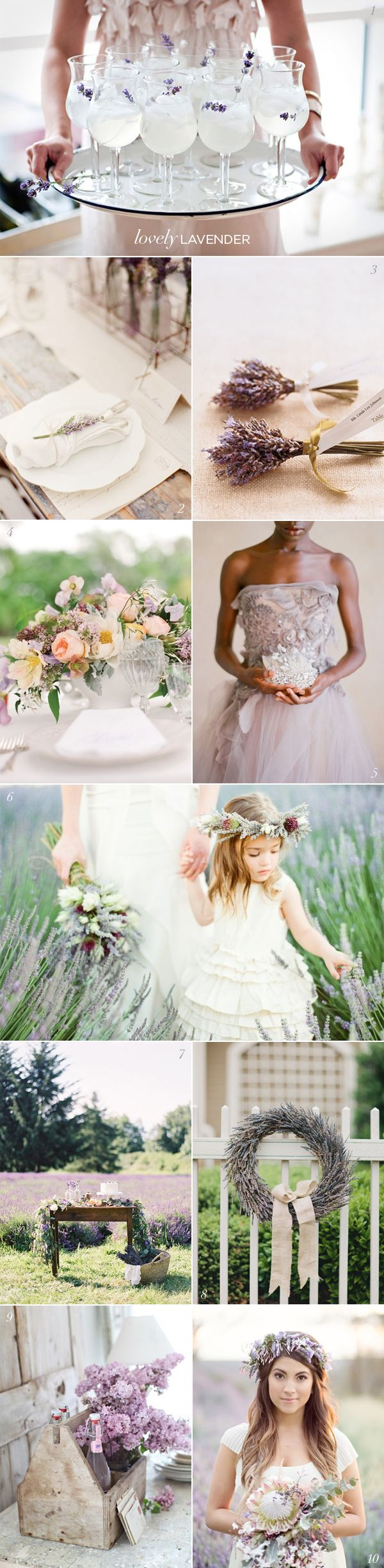 Lavender Wedding Ideas | Lavender weddings, Lavender and Water