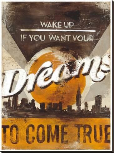 Dreams Come True Stretched Canvas Print Rodney White Art Com Distressed Wood Wall Art Stretched Canvas Prints Canvas Prints