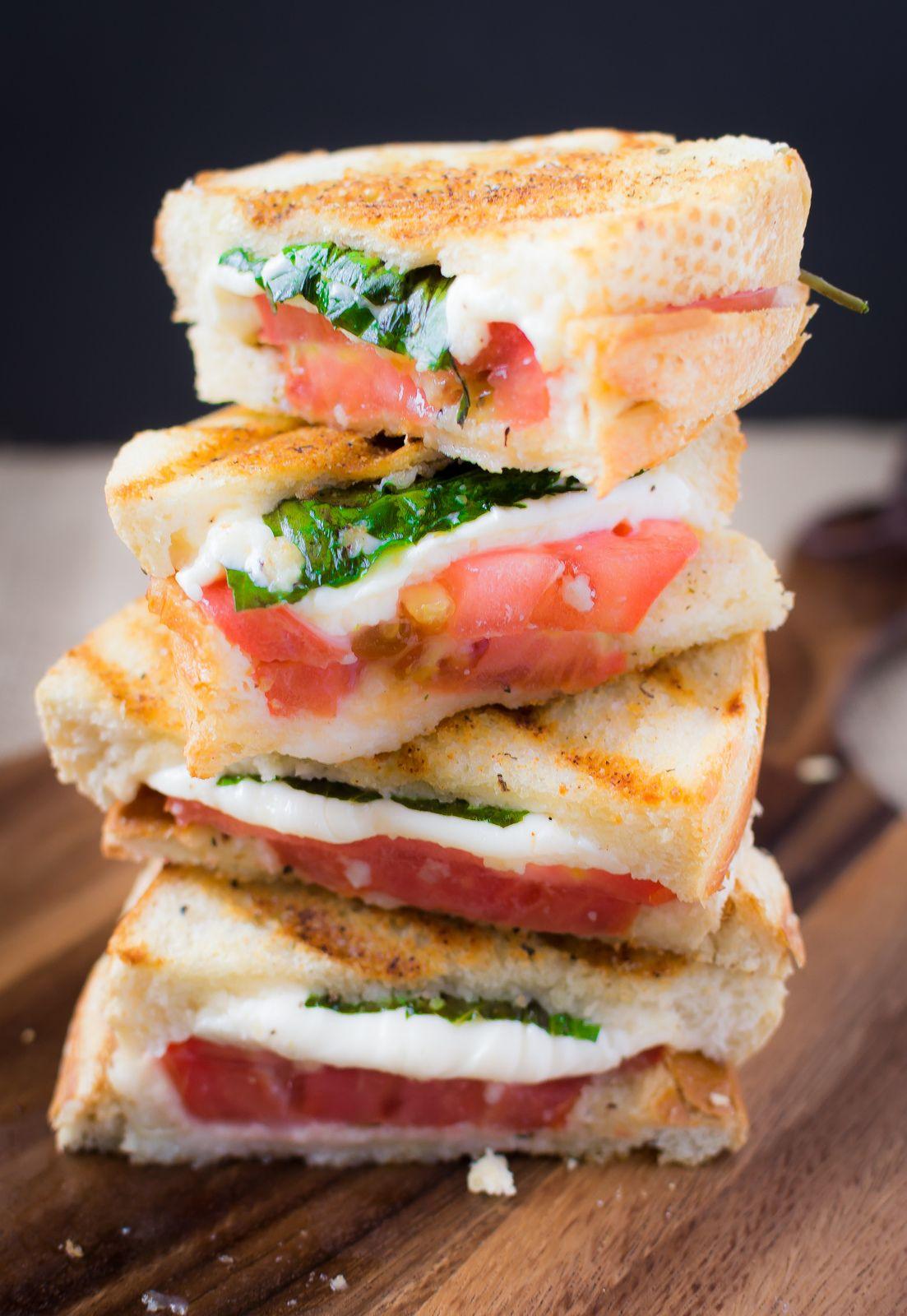 Margherita panini with garlic