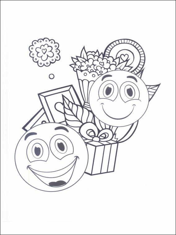 Emojis emoticons coloring pages 27