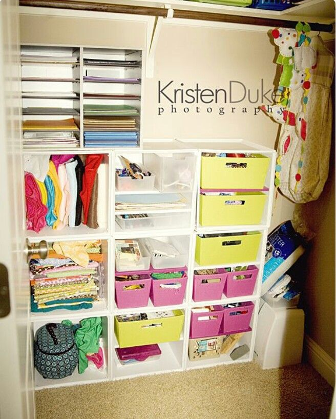 Craft Closet Organization Ideas Part - 38: Craft Closet Organization: Before After With Target Itso Cubes - Kristen  Duke Photography Closet Organizing