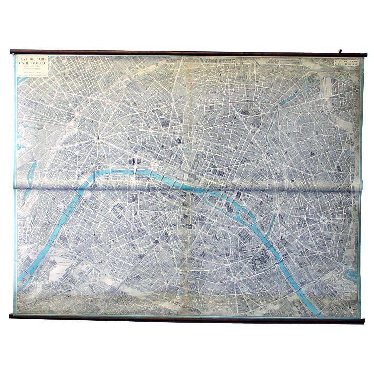 Monumental Map of Paris Plan de Paris