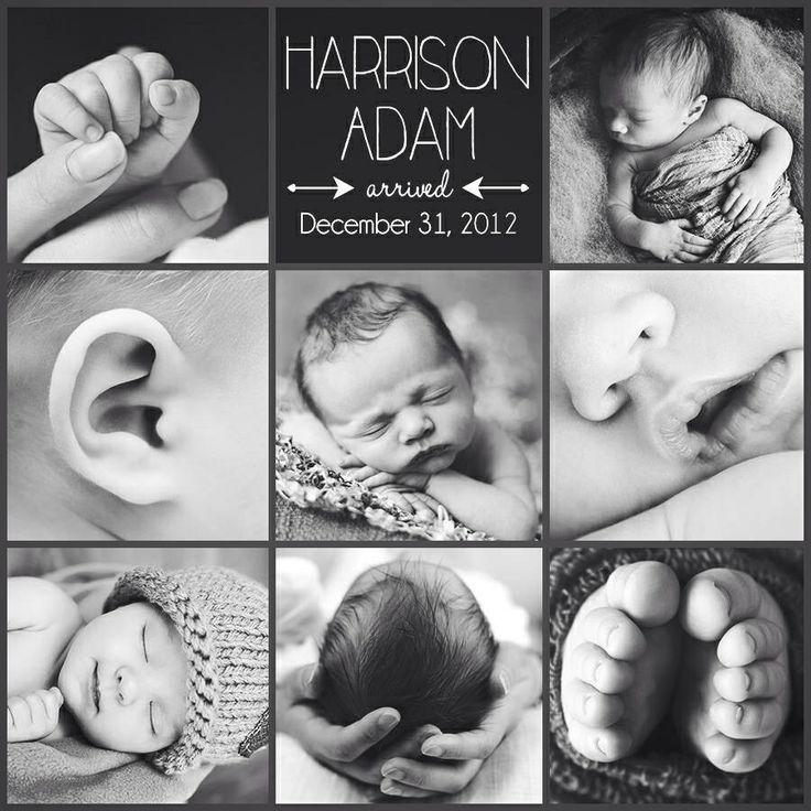 Cute Birth Announcement Ideas! baby photos Pinterest Birth
