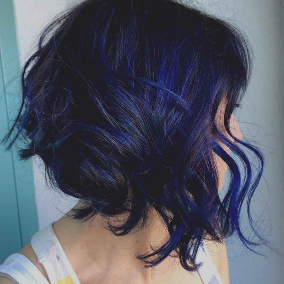 Einzigartige Dunkelblau Frisuren Blau Schwarz Frisur Ideen Blaue