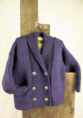 Free Knitting Pattern Childrens Jacket : Free Knitting Pattern - Toddler & Childrens Clothes: Eucla Toddler J...