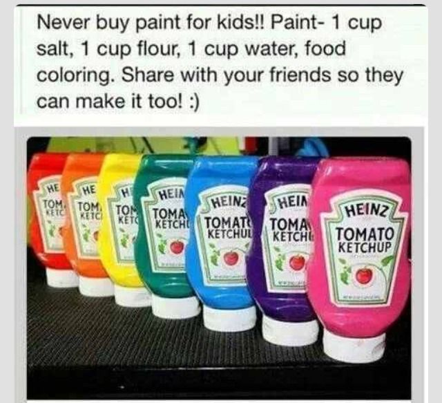 DIY kid's paint.