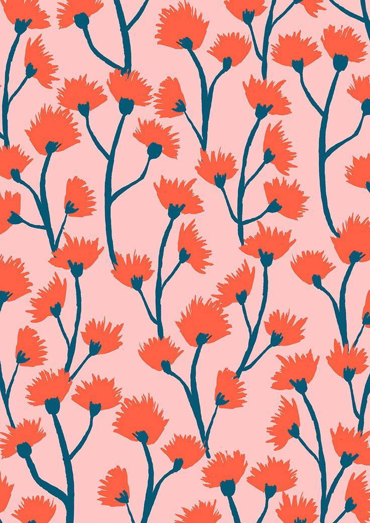 pink and peach floral pattern | Color & Pattern | Pattern ...