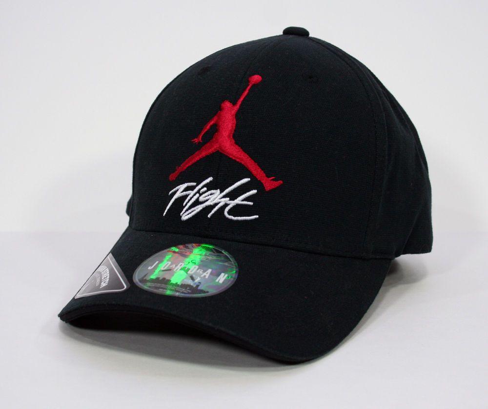 3e9bde6b5a2ebb Air Jordan Nike Jumpman Mens Stretch-Fit Hat Black Red Large XL  Nike   BaseballCap