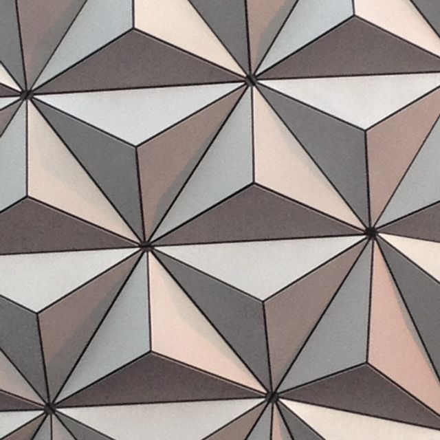 Epcot close up but the geometrics are so cool
