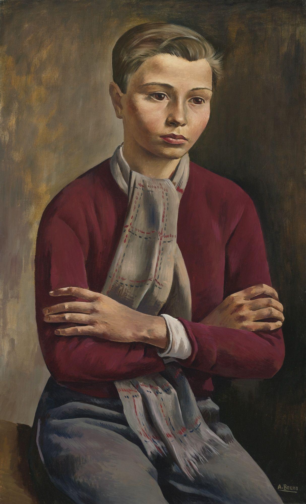 'Seated Boy' by Antonio Berni (Argentinian 1905-1981)