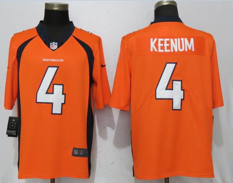 1beee9319b6 Men Denver Broncos 4 Keenum Orange Nike Vapor Untouchable Limited Playe NFL  Jerseys