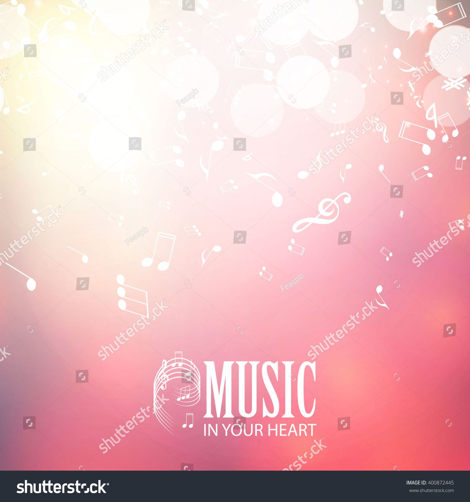 Abstract Music Background Vector Illustration Sponsored