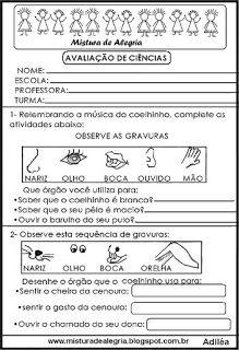 Avaliacao De Ciencias 1º Bimestre Com Imagens Atividades De