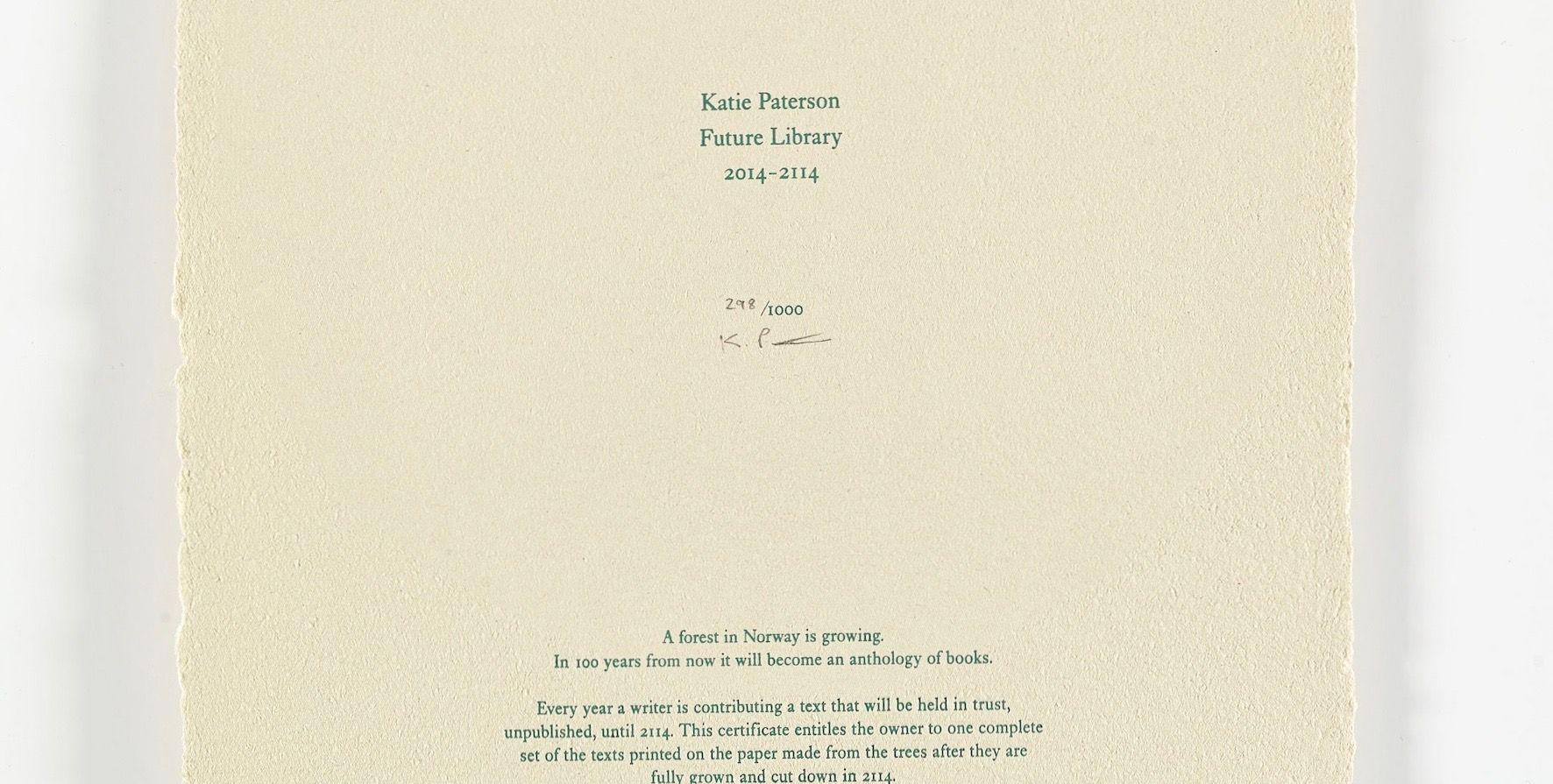 解禁は100年後。2114年の地球に「人気作家100人の作品を届ける」