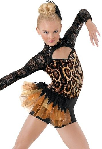 89ee4449606c4 Weissman® | Leopard Print Feather Tulle Bustle | dance costumes in ...