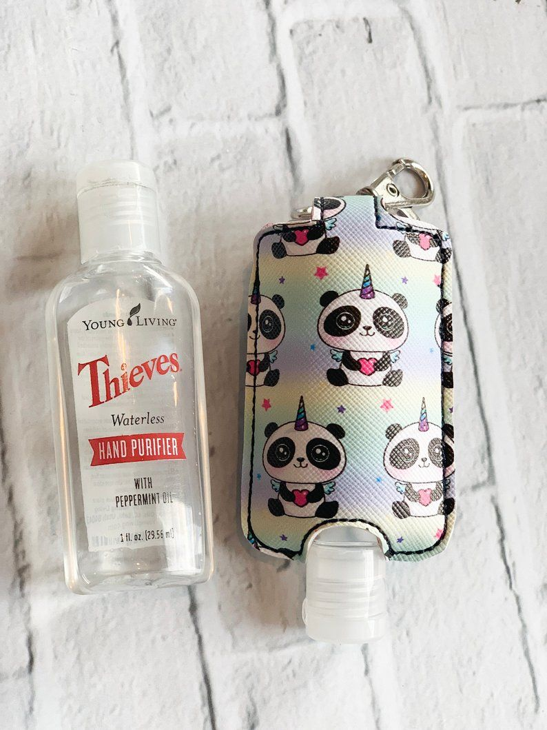 Unicorn Panda Pandacorn Printed Young Living Thieves Hand Purifier