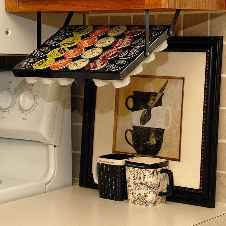 Under Cabinet Keurig K Cup Holder Clever Kitchen Storage