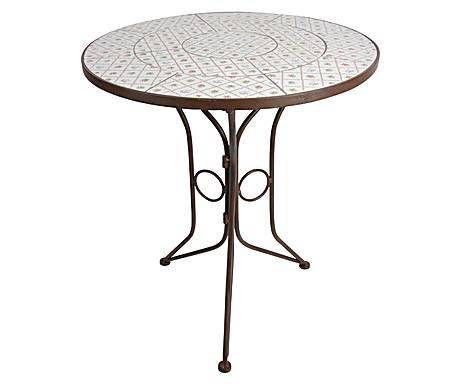ESSCHERT DESIGN & CO: Table de jardin Métal et céramique, Marron et ...