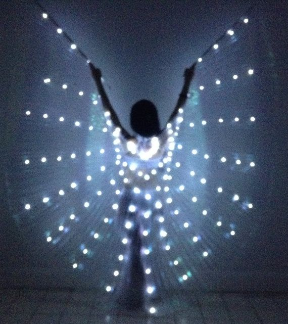 Sparkly LED Wings LED 126-130 lights -Ice queen-