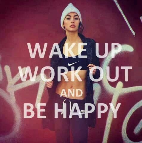 Happiness comes naturally after a workout.