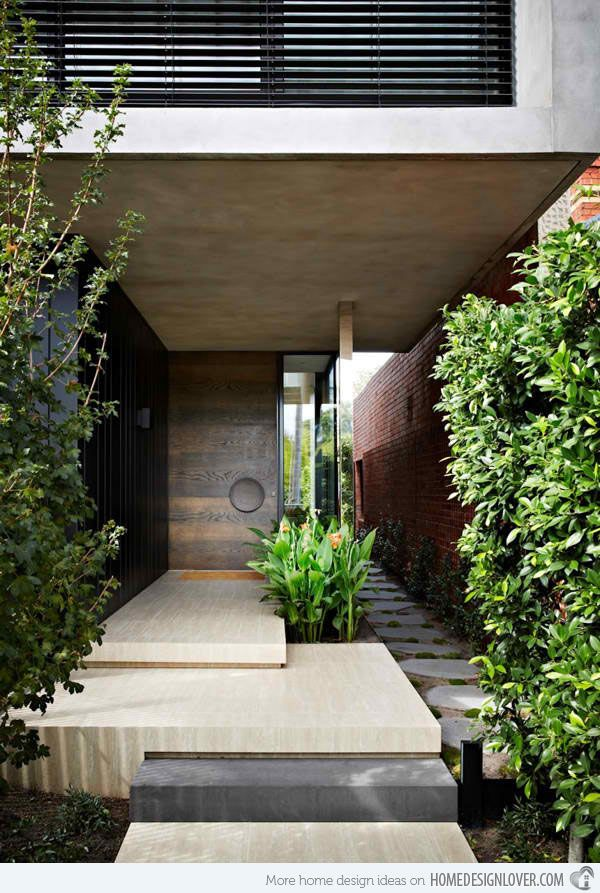 Oban House in Australia Reflects Usage of Natural Materials in Modern Design is part of architecture House Colonial Front Porches - A modern house named Oban House located in South Yarra, a suburb of Melbourne, Australia showcases a lovely usage of natural and organic material pallet