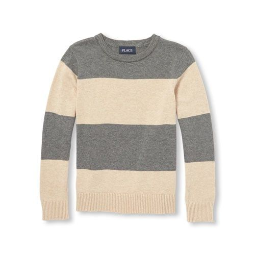 51f5013e9 Boys Long Sleeve Striped Crew Sweater - Caden