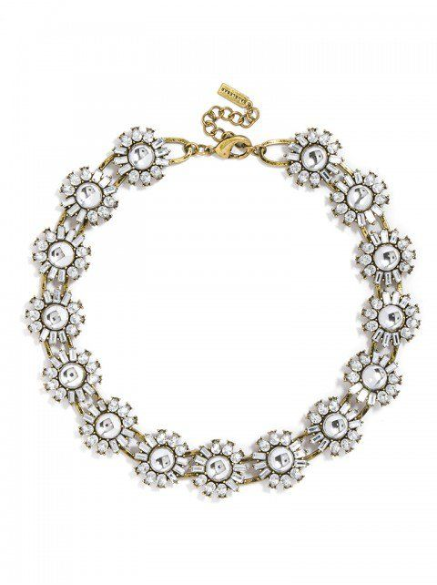 Crystal Bloom Collar Necklace   BaubleBar