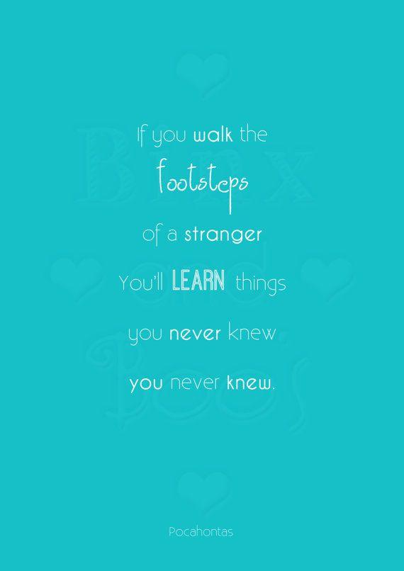 Disney Princess Word Art Pocahontas Quote By Binxandboos On