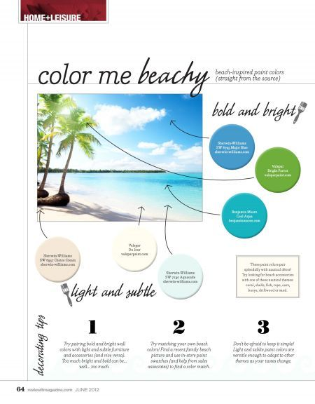 Bring The Beach Home With These Beach Inspired Paint Colors Tips