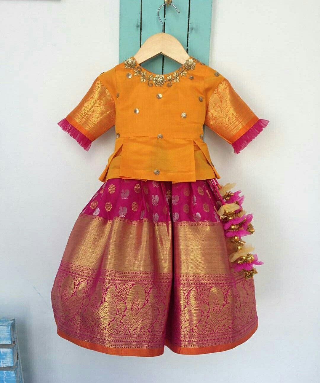 883f027db1c Lehenga baby | baby in 2019 | Kids blouse designs, Kids indian wear ...
