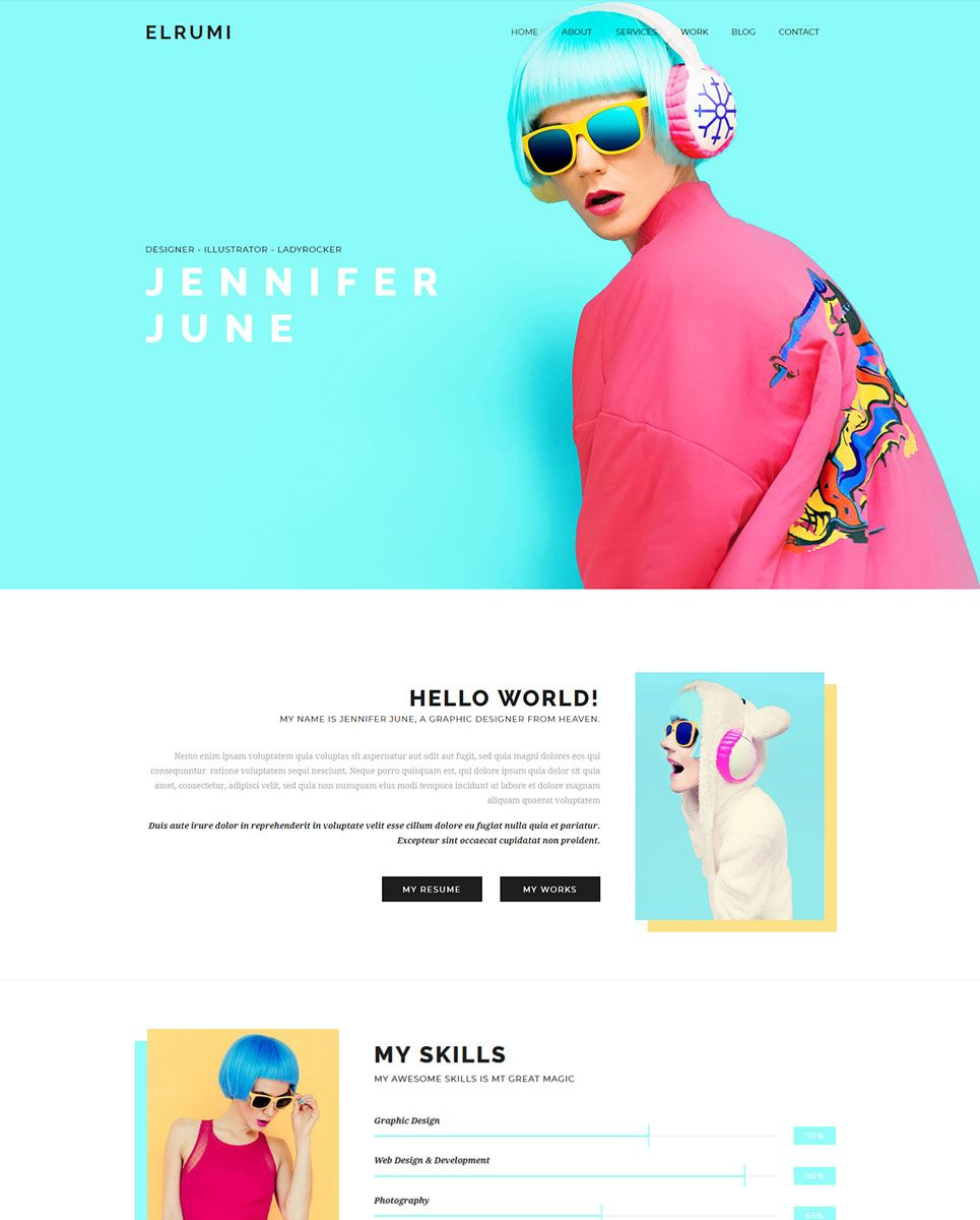 elrumi creative responsive muse template my saves pinterest