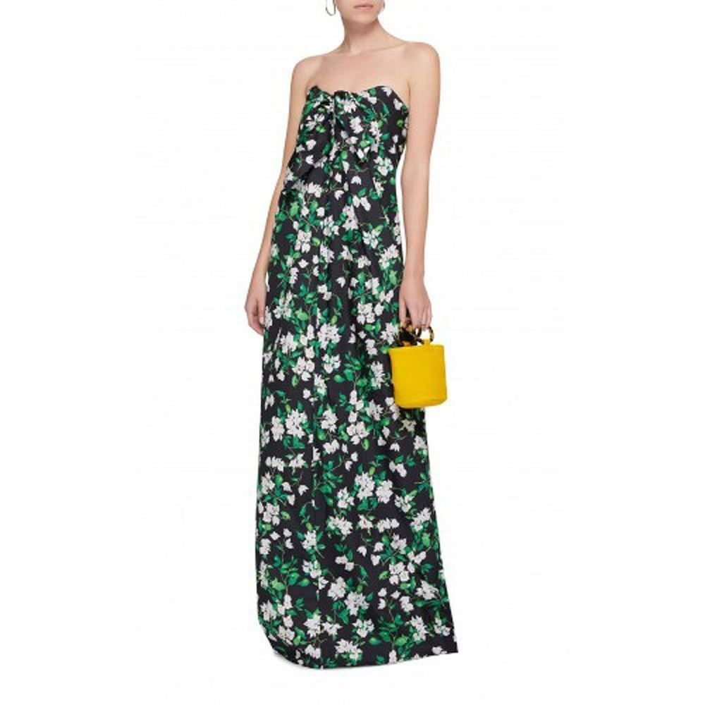 Caroline Constas Kaia Maxi Dress This Strapless Maxi Dress Is Rendered In An All Over Floral Print And Maxi Dress Floral Maxi Dress Black Floral Maxi Dress [ 1000 x 1000 Pixel ]