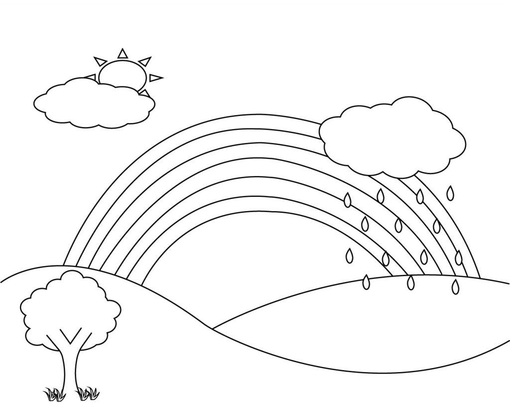 Cloud Coloring Page For Kids Cloud Coloring Page For Kids