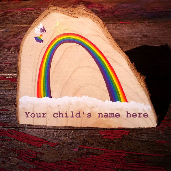 Personalised Rainbow Fairy Name Art by faerieclare on Etsy