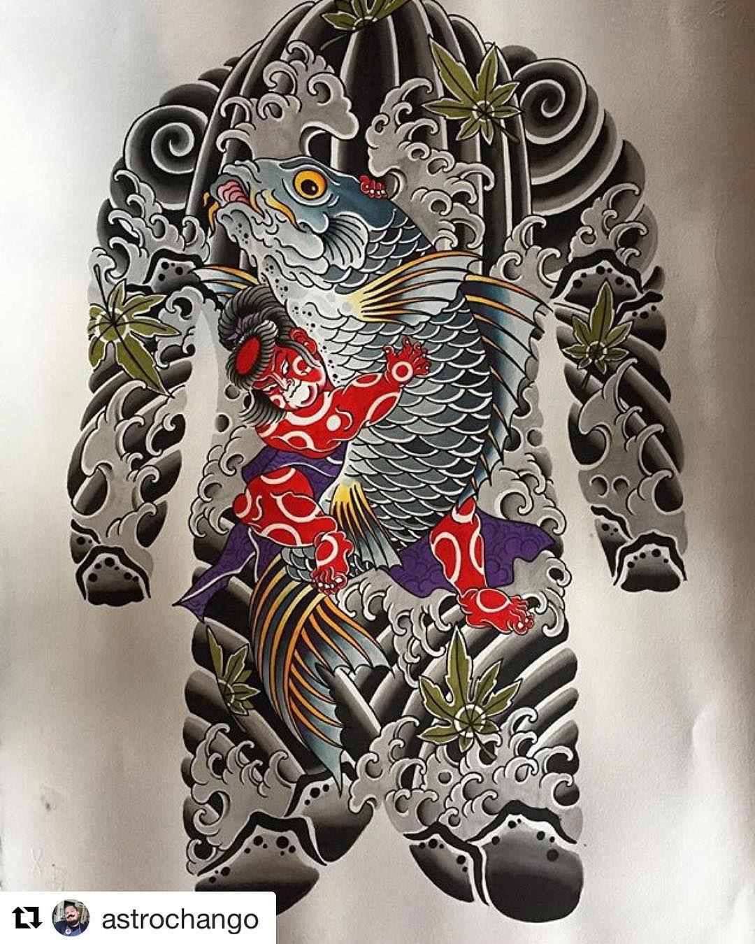 """one picture/one artist on Instagram: """"#Repost @astrochango 🙏🙏 #irezumi #tattoo #tattoosketch #japanesetattoo #wabori #tattoodesign #orientaltattoodesign #addflash_  @addflash_"""""""