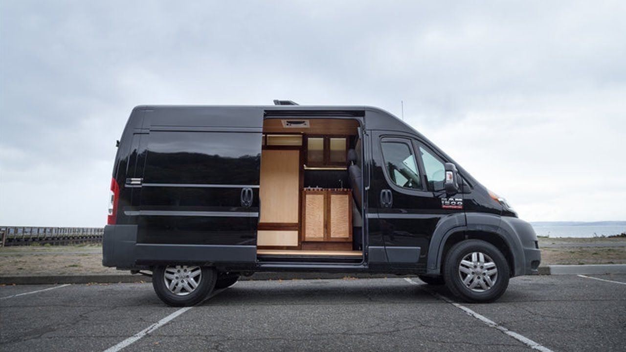 Hybrid Live Work Van Conversion By Pro Woodworker
