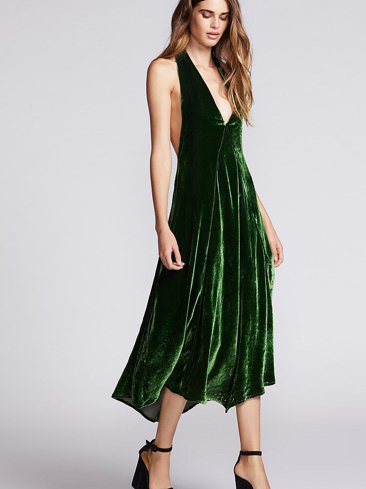 79302de49c79a4 Walter Velvet Midi Dress from Free People! | My Style | Velvet midi ...