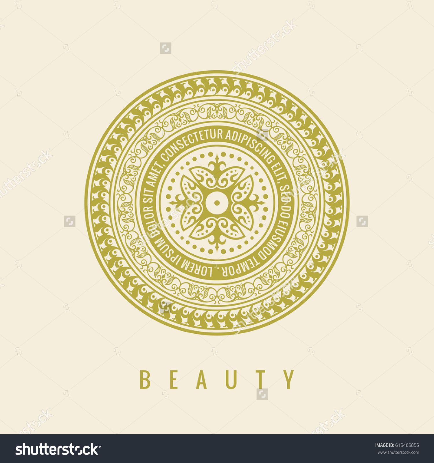 Round Pistachio calligraphic royal emblem. Vector floral symbol for ...