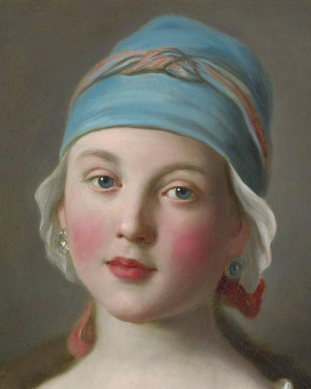 Pietro Rotari Italian 1707 1762 Portrait Of A Russian Girl Detail Romantic Art Portrait Painting Portrait Art