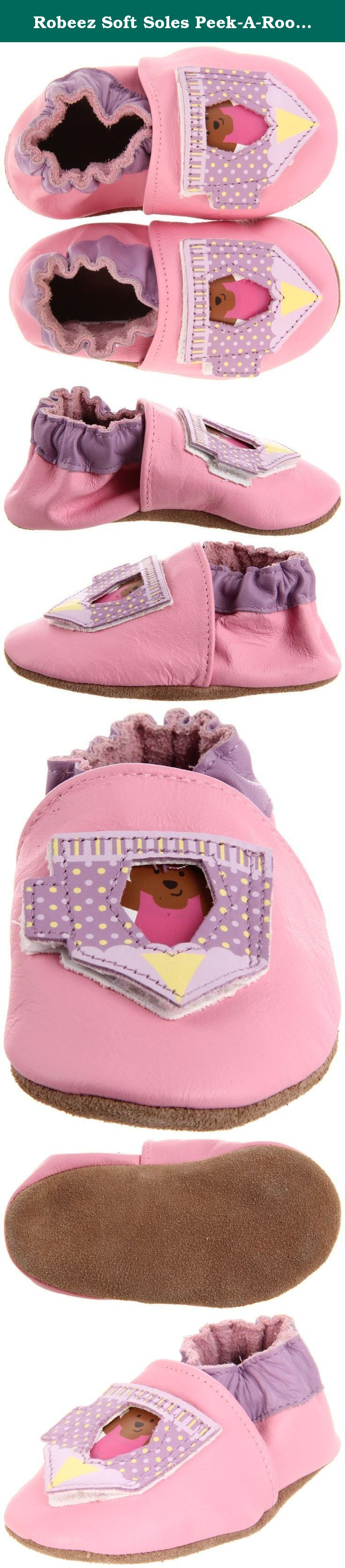 Robeez Soft Soles Peek-A-Roo Circus Act Pre-Walker (Infant/Toddler), Pink, 6-12 Months (2.5-4 M US Infant).