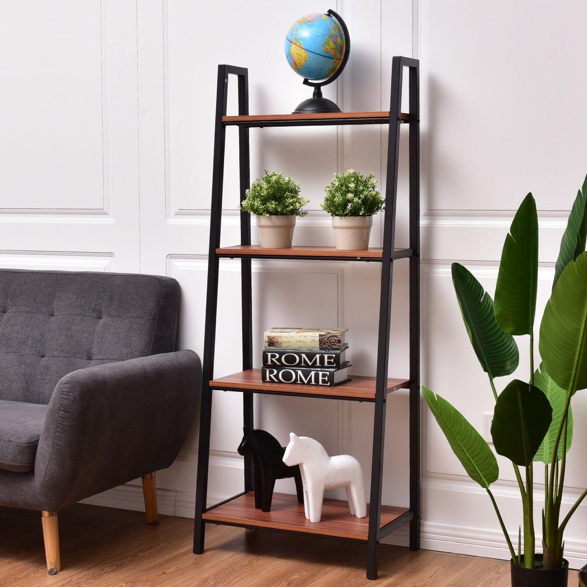Tier durable ladder storage bookcase furniture pinterest