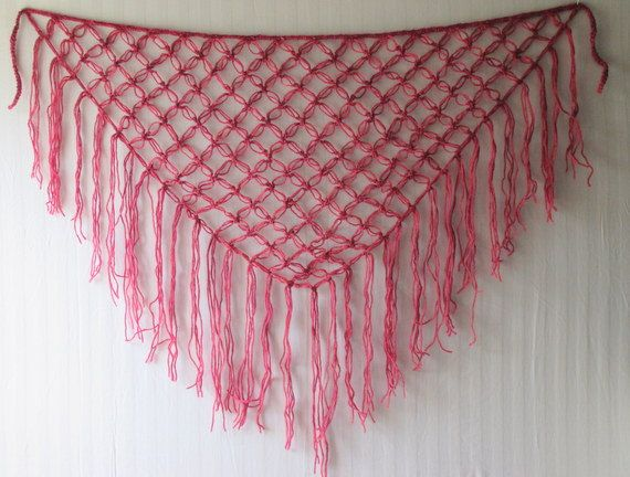 Hand Crocheted Knot Stitch Hip Scarf With Fringe These Hip Scarves