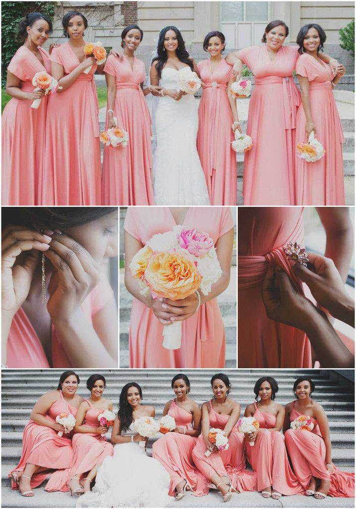 Yodit & David Part I, Edmonton, AB - Ambessa Weddings - Bridesmaids ...