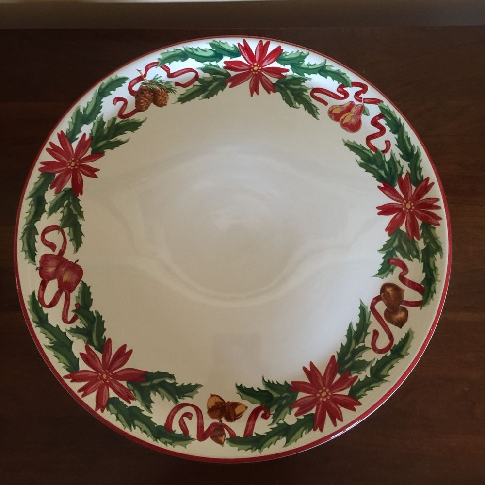 & Tiffany And Co Holly Porcelain Cake Plate Holiday Christmas