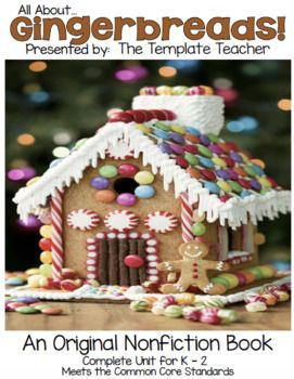 All About Gingerbreads: A Non-Fiction Book and Activities #gingerbreadhousetemplate