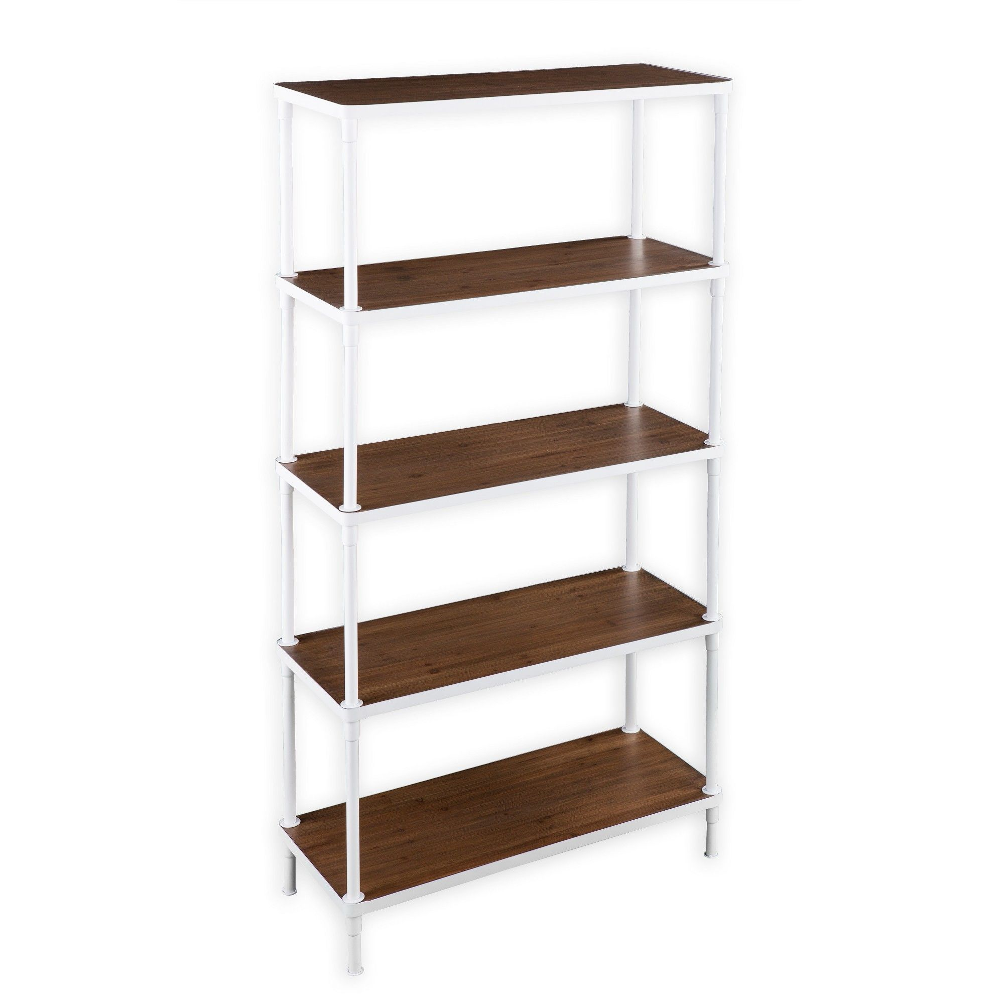 Aiden Lane Khepri 5 Tier Bookcase White